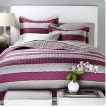 Vern Yip Home Cabana Stripe 3-piece Reversible Quilt Set, Size Full/Queen - $54.44
