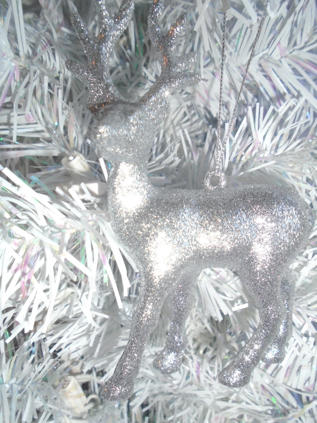 Christmas Tree Ornament Light Green Dark Green Glitter Bell