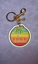 Leather COACH Sparkle RAINBOW Palm Tree SUNNY CALIFORNIA Bag CHARM Key R... - $48.09