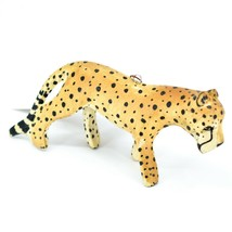 Hand Carved & Painted Jacaranda Wood Cheetah Safari Ornament Made in Kenya image 1