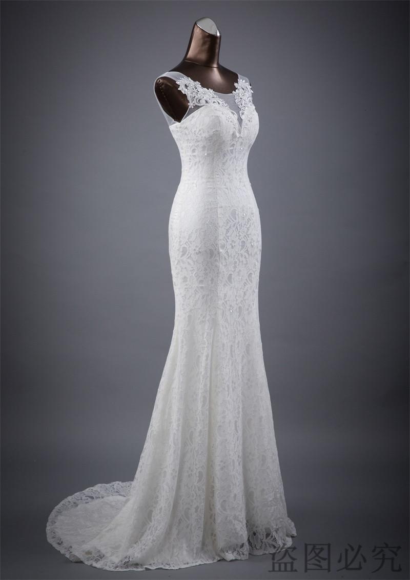 Lace floral mermaid Wedding Dress at Bling Brides Bouquet Online Bridal Store