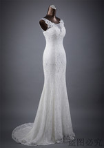 Lace floral mermaid Wedding Dress at Bling Brides Bouquet Online Bridal Store image 3