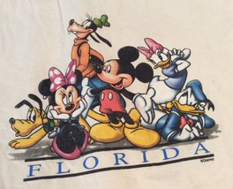 "Vintage Disney Florida Canvas Tote Medium Sz 16"" W Shopping Bag by Sherry Mfg - $34.77"