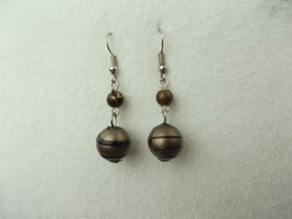 "VINTAGE SILVER TONE PIERCED DROP/DANGLE Earrings FASHION APPROX. 2"" (G) - $7.02"