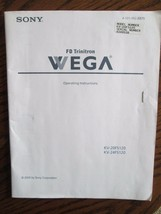 Sony FD Trinitron Wega Owners Manual - $4.49