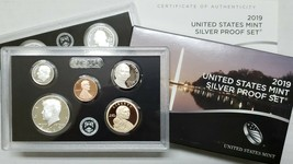 2019S - 10 Coin SILVER Proof Set w/box & COA (NO EXTRA Lincoln 'W' CENT) qty 5
