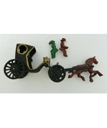 Cast Iron Collectible Horse and Covered Carriage w/ Man and Woman Amish ... - $34.53