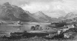 SCOTLAND Kilchurn Castle Romantic Countryside - 1875 Antique Print Engra... - $19.12