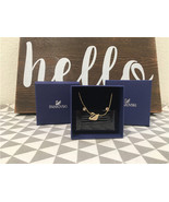 Swarovski Crystal Golden Swan Necklace and Earring Set 5030717 - $92.34