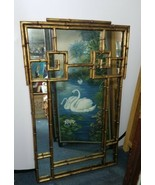 70's LaBarge 47lb Iron Bamboo Chippendale Wall Mirror Asian Hollywood Re... - $1,386.00