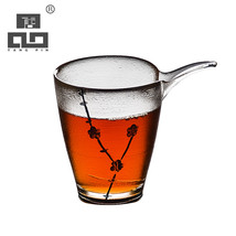 TANGPIN heat-resistant glass tea infuser with gold line chahai glass tea... - $75.90