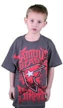 Famoso Stars Y Correas Gris Carbón Rojo Guerra Stories Juventud Niño Camiseta image 1
