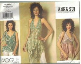 2968 UNCUT Vogue Sewing Pattern Misses Close Fitting Partially Lined Top... - $14.84