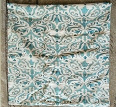Pottery Barn REILLEY EMBROIDERED LINEN Pillow Cover TEAL NWOT #P200 - $39.00