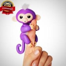 Fingerlings Interactive Baby Monkey Mia Purple White Hair Children Birth... - $18.95
