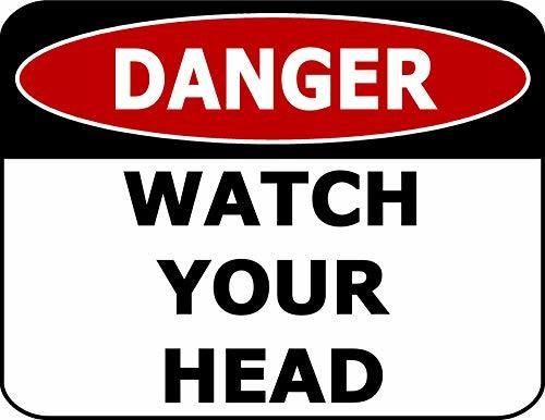Primary image for Top Shelf Novelties Danger Watch Your Head Laminated OSHA Safety Sign SP1918