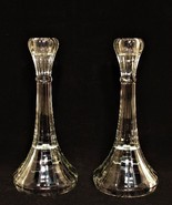 Clear Glass Candlesticks Vintage Candle Holders 8 inches Tall Estate Sal... - $46.52