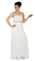New Ivory Wedding Evening Dress with Shawl UK Size 8-16,EU38-46,US6-14 u... - $221.47