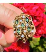 Vintage 1960s Jack Gutschneider JGJLRY 14k Gold Green Tourmaline Diamond... - $1,183.05