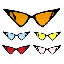 Womens Iconic Thin Plastic Gothic Retro Cat Eye Sunglasses - $9.95