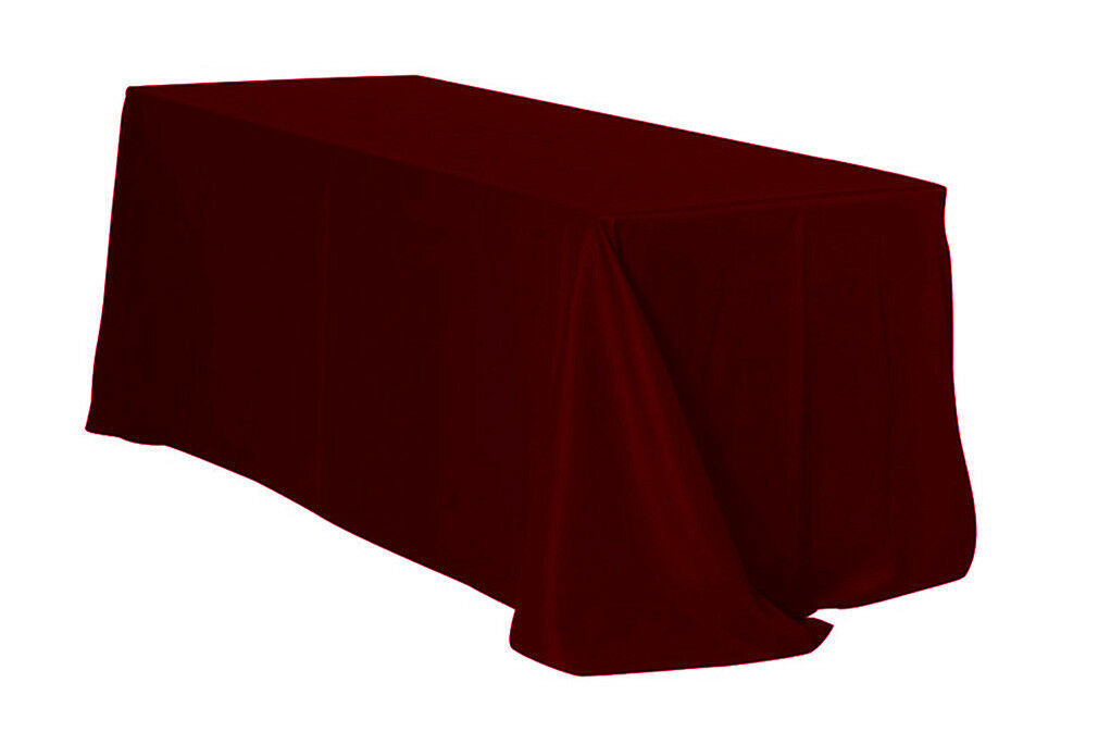 Primary image for Rectangular Polyester Tablecloth Burgundy 90 x 132 inch