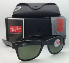 Polarized RAY-BAN Tech Series Sunglasses RB 4195 601-S/9A 52-20 Black with Green
