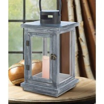 Lot of 6 Large Rustic Wood Lantern Candle Holder Wedding Centerpiece  - $20.76