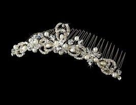 Pearl & Rhinestone Bridal Comb - $35.66