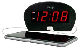 "30024 Equity by La Crosse AC Powered 0.9"" Red LED Display Alarm Clock US... - $9.99"