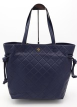 NWT Tory Burch Navy Blue Georgia Slouchy Leather Tote Shoulder Bag New - $328.00