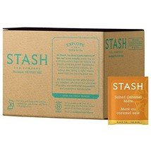 Stash Tea Salted Caramel Mate Black Tea & Mate Blend 100 Count Tea Bags in Foil