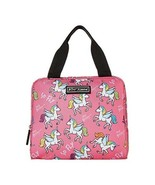 New Betsey Johnson Pink Unicorns Rainbows Lunch Box Insulated Tote Bag S... - $29.99