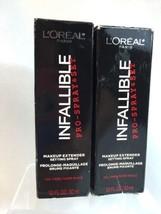 (2) L'Oreal Cosmetics Infallible Pro-Spray Makeup Extender Setting Set P... - $15.79