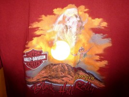 2007 Harley Davidson Sturgis Motorcycle Rally Maroon SS T Shirt, Buffalo... - $22.45