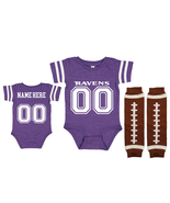 Personalized Baltimore  Ravens Jersey Uniform Onesie Choose Name And Number - $27.95+