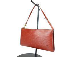 Authentic LOUIS VUITTON Pochette Accessoires Brown Epi Leather Hand Bag ... - $219.00