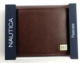 Nautica Men's Premium Leather Credit Card Id Passcase Wallet Billfold 31Nu22X030 image 9