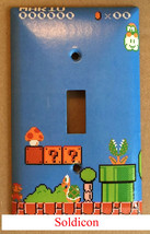Super Mario brothers Games 8 bit Light Switch Outlet Wall Cover Plate Home Decor