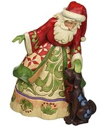 "Jim Shore Heartwood Creek Santa with Puppy Stone Resin Figurine, 9"" - $68.10"