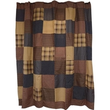 Patriotic Patch Bath Shower Curtain 72 x 72 Blocked Rustic Country  - $59.99