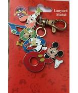 Disney Fab 2008 Cast Lanyard Medal Goofy Pluto Donald Mickey Pin New - $16.44