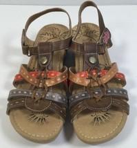 L'Artiste by Spring Step Cloe Sandal Womens Sz 41 US 9.5-10 Khaki Multi ... - $69.29