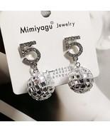 Mimiyagu famous  design golden crystal ball letter 5  earring for women ... - $11.38