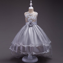 New Arrival Gold Lace Flower Girls Dress Ball Gowns Wedding Girl Gowns Pageant  image 5