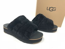 UGG Australia Women's Fluff Yeah Sandal Slides Black 1098681 Platform Sa... - ₹6,386.03 INR