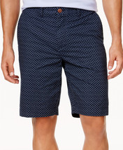 """New Mens Tommy Hilfiger 9"""" MICRO-FLORAL Print Blue Cotton Shorts 40 - $24.74"""