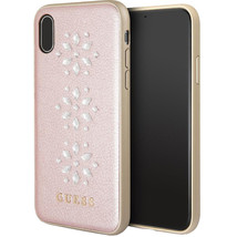 Guess Studs and Sparkles Genuine Leather Hard Designer Case for  iPhone X - $45.27