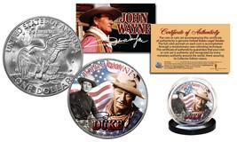 JOHN WAYNE * AMERICANA * Eisenhower IKE One Dollar U.S. Coin with COA LI... - $9.85