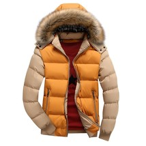 2018 New Men's Casual Coat Thick Jackets Korean Cotton Hooded Casual Men... - $79.56