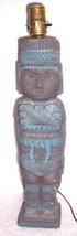 Maya Inca AZTEC Handmade Indian Ceramic Pottery Statue Electric Lamp #15... - $344.99